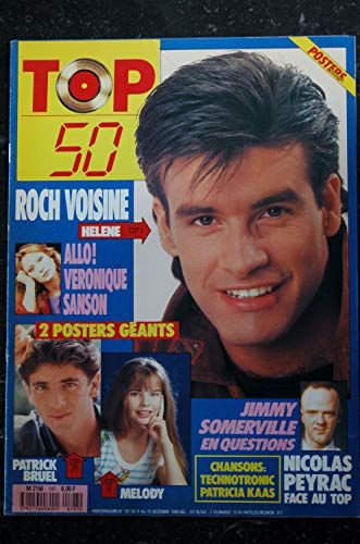 TOP 50 197 1989 ROCH VOISINE VERONIQUE SANSON BRUEL MELODY NICOLAS PEYRAC JIMMY SOMMERVILLE