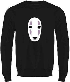 No Face Kaonashi Nerd Apparel Geek Crewneck Sweatshirt for Men