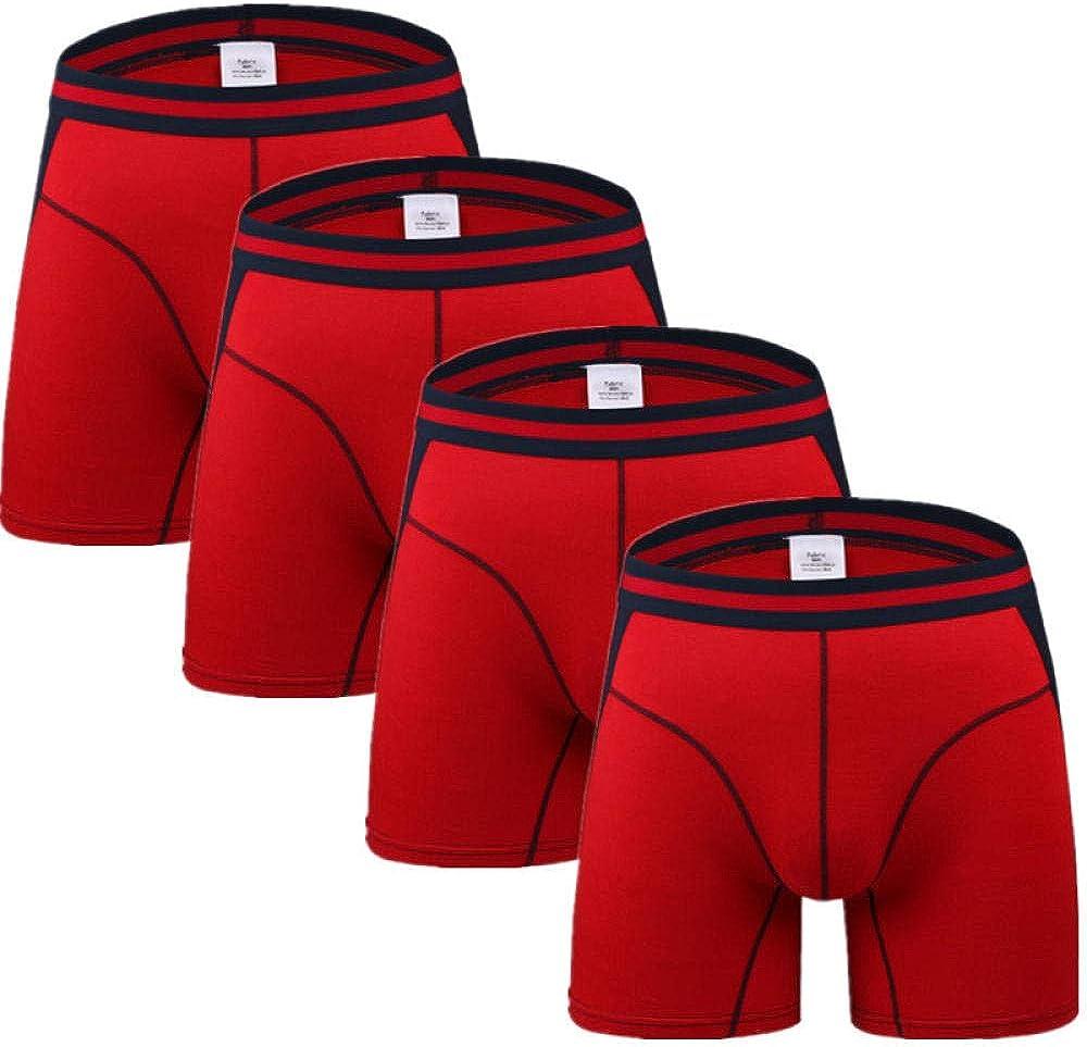 Mens Briefs Underwear 4Pcs/Lot Long Boxers Panties Men Underwear Underpants Male Shorts Man Boxer Slip Hommes