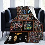 Horror Movie Blanket 50'x60' Super Soft Flannel Throw Blanket Lightweight Shaggy Air Conditioner Blanket Cooling Blankets Cooling Summer Blanket Towel Blanket for Couch Kids Girls & Adults