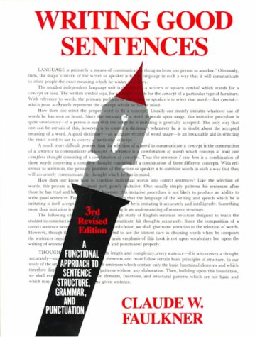 Writing Good Sentences, Revised Edition (3rd Edition)