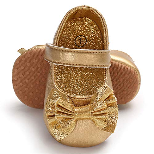 Infant Girl Gold Shoes