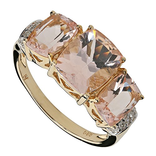 Harry Ivens Damen-Ring Gold Gelbgold 585 (14 Karat) Morganit Diamant RW20