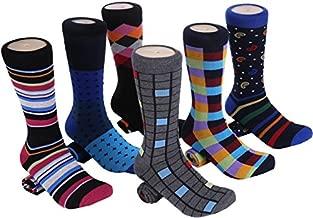 Marino Mens Dress Socks - Fun Colorful Socks for Men - Cotton Funky Socks - 6 Pack - Spunky Collection - 10-13