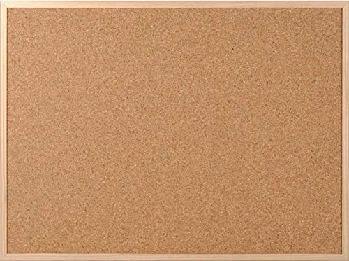 Pinnwand aus Kork ca. 60 x 80 cm mit Papprückwand