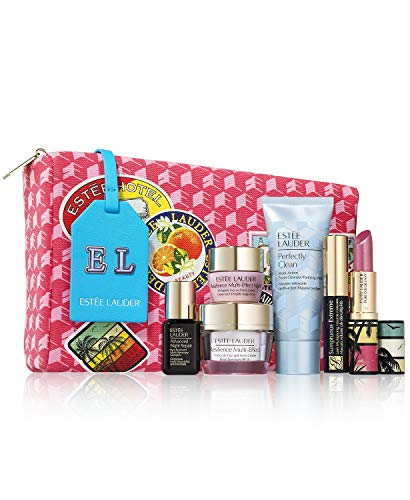 Estee Lauder 2021 7pcs 24-Hour Lift & Hydrate System Set Includes Resilience Multi-Effect Creme SPF 15, Advanced Night Repair Serum (Worth over $140!)