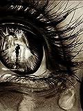 Xofjje Pintar por Numeros_Retrato de Arte de Ojos_AdultosDIY Pintura por números_Pinceles y Pinturas Decoraciones para el Hogar_30x40cm_Sin Marco