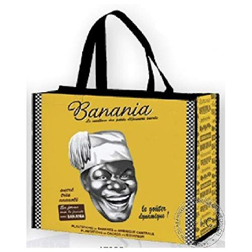 Banania Schokolade Sammlung FRANZOSICH Vintage Bag Shopper Retro Werbung Chamonix Mont Blanc SKIGEBIET Frankreich