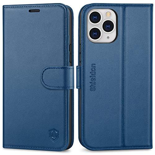 SHIELDON Funda iPhone 12 Pro MAX, Funda Protectora de Cuero Genuino con...