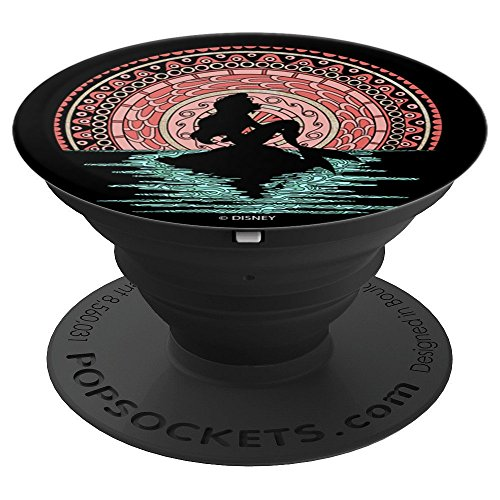 Disney Little Mermaid Silouhette Colorful Henna Sunset - PopSockets Grip and Stand for Phones and Tablets