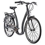 26 Zoll Alu Fahrrad Leader Fox EMA Damen City Bike Tiefeinsteiger 7 Gang