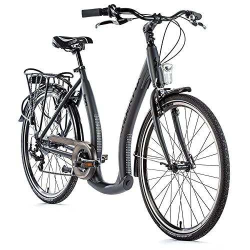 26 Zoll Alu Fahrrad Leader Fox EMA Damen City Bike Tiefeinsteiger 7 Gang schwarz