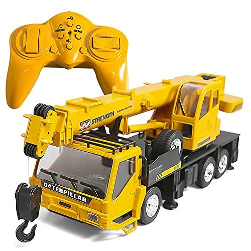HTD Digger de Control Remoto para niños, 8Channel RC Excavator Tractor Toys con Luces y Sonido para Adultos niñas niñas