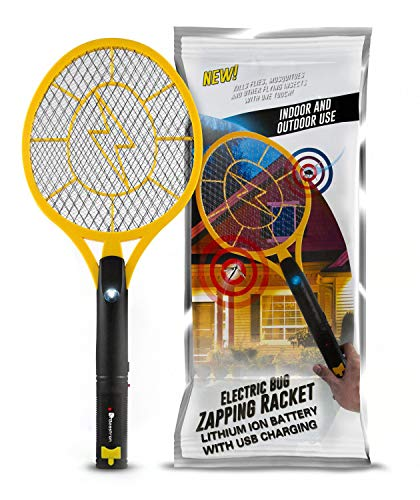 Beastron Bug Zapper Electric Fly Swatter 3000V USB Rechargeable, Mosquito Racquet Fly Killer Racket...