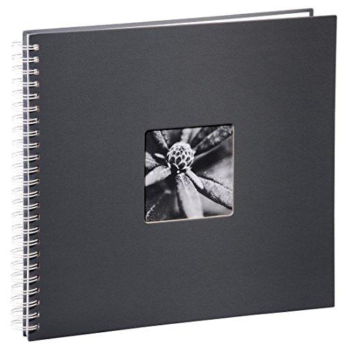 Hama Jumbo Fotoalbum, 36 x 32 cm, 50 weiße Seiten, 25 Blatt, mit Ausschnitt für Bildeinschub,...