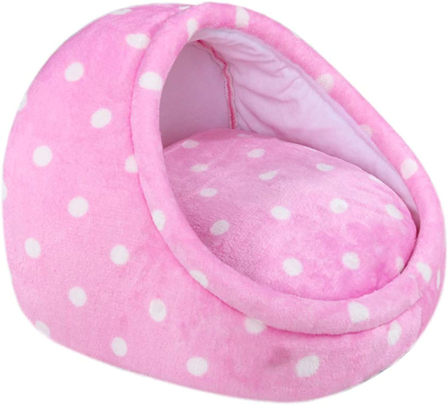 Pet Bed Pet Bed Winter Warm and Washable Pet Nest Four Seasons Universal Small and Medium Dog Cat Rebound Sponge Mat 2 color Optional (color   Pink, Size   Small)