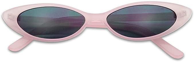 Mini Vintage Retro Extra Narrow Oval Round Skinny Cat Eye Sun Glasses Clout Goggles