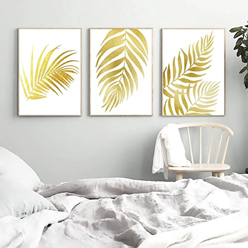 Lienzo de pared Art imagen Planta de hoja dorada de otoño Cuadro...
