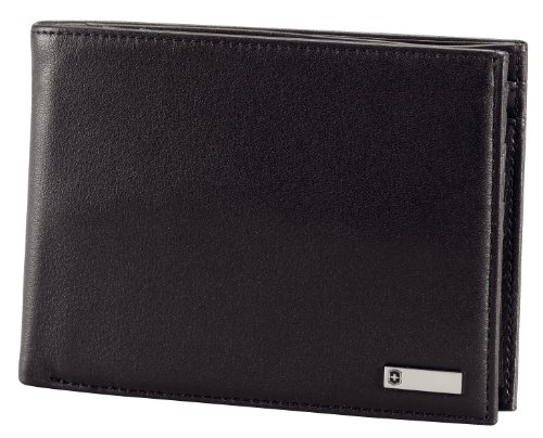 Victorinox Men's Altius 3.0 Innsbruck Leather Deluxe Bi-Fold Organizer With European Id Window and Coin Pocket, Black, One Size