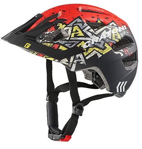 Cratoni Unisex– Erwachsene Maxster Pro Fahrradhelm, wildes rot, S/M (51-56 cm)