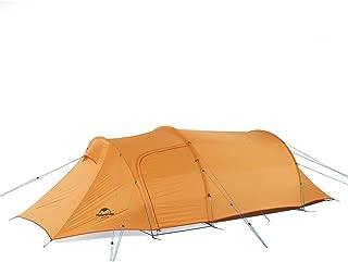 Naturehike(ネイチャーハイク) トンネルテント 超軽量バックパックテント 折り畳み式キャンプテント 3人用 テントアースシート付