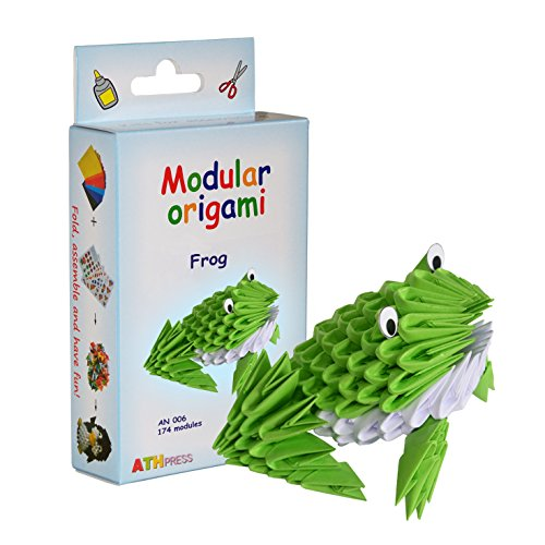 Origami Modular, Juego de 174 Piezas de Papel, Rana pequeña, Multicolor