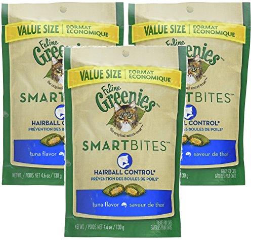 Feline Greenies SMARTBITES Hairball Control Tuna (4.6 oz) 3 Pack
