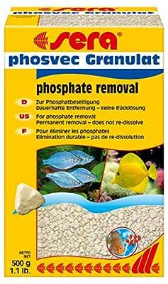 sera phosvec Granulat entfernt Phosphat den Hauptnährstoff für Algen im Aquarium (Filtermaterial in Labor-Qualität), Phosphat Absorber bzw. Phosphatentferner