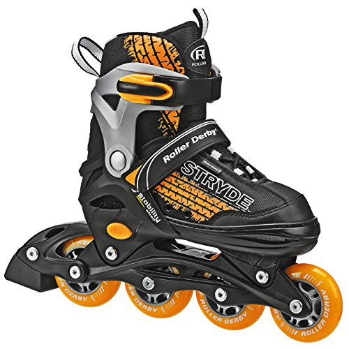 Roller Derby Stryde Boy's Adjustable Inline Skates, Medium (2-5)