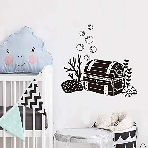 JXAA Kinder Schlafzimmer Wohnzimmer Kindergarten Piraten Dekoration kreative schatztruhe wandaufkleber abnehmbare Vinyl wandaufkleber 44 cm * 76 cm
