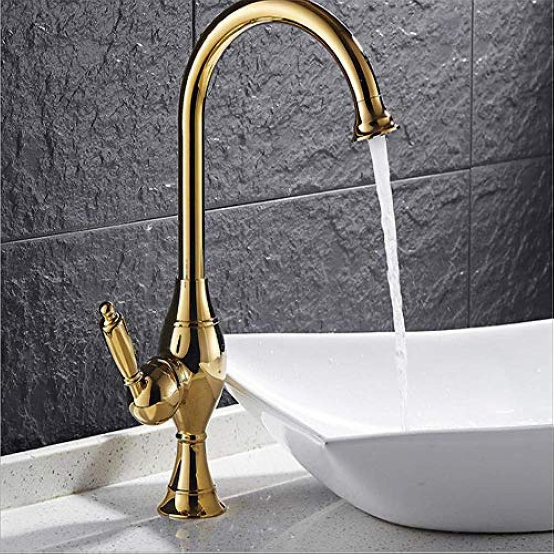 360 ° drehbare moderne Wasserhahn europischen Gold Küche Bad Dual-Use-Becken Wasserhahn Bad Einlochmontage Waschbecken Wasserhahn
