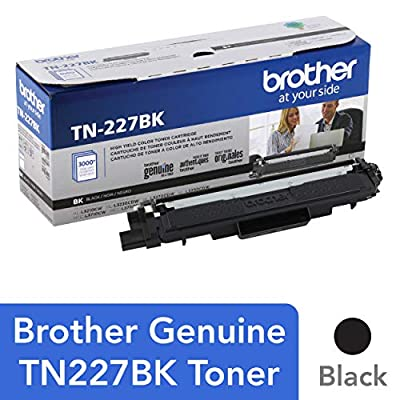 Brother Genuine TN227, TN227BK, High Yield Toner Cartridge, Replacement Black Toner,VAR