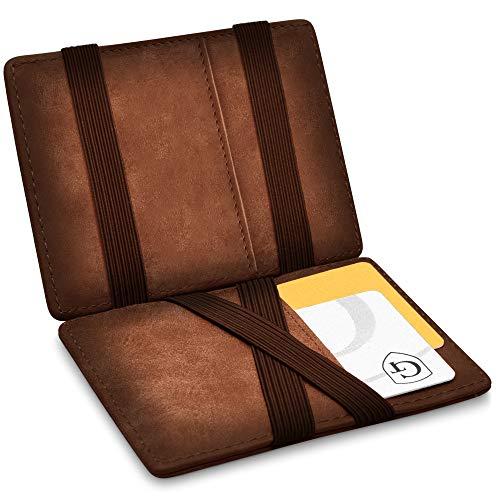 GenTo Design Germany Vegas Magic Wallet - Kleiner Geldbeutel - TÜV geprüft - Dünne Geldbörse mit Münzfach - Geschenk für Herren und Damen mit Geschenkbox - Smarter Geldbeutel - Slim Portemonnaie