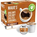 Maud's Salted Caramel Coffee (Dreamy Creamy Caramel), 24ct. Solar Energy Produced Recyclable Single Serve Salted Caramel Flavored Coffee Pods – 100% Arabica Coffee California Roasted, KCup Compatible
