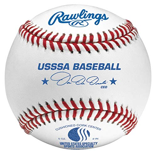 Rawlings Raised Seam Tournament Grade USSSA League Baseballs, 12 Count, ROLBUSSSA