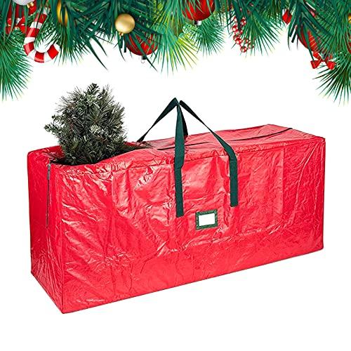 TSLBW - Borsa portaoggetti per albero di Natale, resistente, extra large, impermeabile, con manici, colore: rosso artificiale per albero di Natale