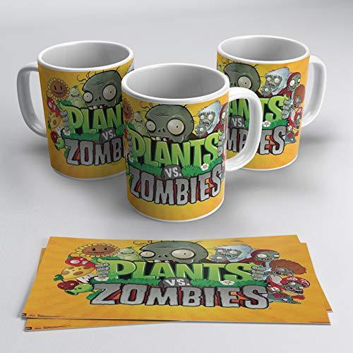 TusPersonalizables.com Taza Plants vs Zombies (Naranja)