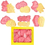 Orapink - Set di 6 stampi per biscotti di Halloween in plastica per Halloween e biscotti, motivo: cartoni animati di Halloween