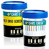 5 Pack Care Check 12 Panel Drug Test Cups - Sterile Urine Tests - Tests Instantly for THC, COC, OXY, AMP, BZO, BAR, MET, MDMA, MTD, MOP, PCP & TCA