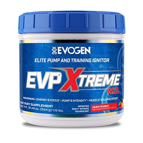 Evogen EVP Xtreme NO   Arginine Nitrate, Beta-Alanine, Citrulline Pre-Workout, Nitric Oxide, Pumps  Much Punch   40 Servings