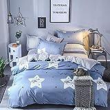 Fostudork Galaxy Bedding Set Superfine Fiber Thickening Bed Linens 3/4pcs Duvet Cover Set Pastoral Bed Sheet Duvet Cover,ZC18,Full Cover 150by200