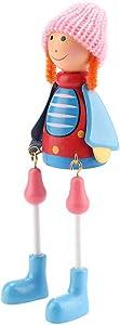 Wosume Kit de muñecas de Adorno Familiar, Estilo Pastoral Exquisita decoración de muñecas en Miniatura de Adorno Familiar 4PCS / Set(Parent-Child Set (Sitting))