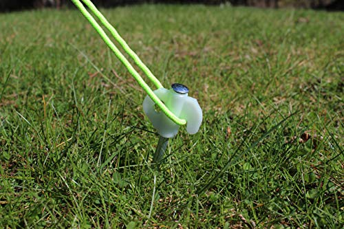 OLPRO Outdoor Leisure Products Tent Pegs Glow in the Dark Hard Ground Peg with Plastic Top for Awning Windbreak 20cm… 3