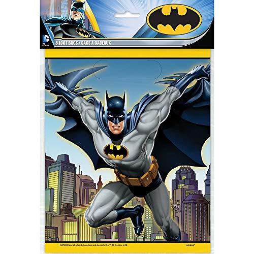Unique 49913 Batman Kunststoff  party beutel,  8 stück