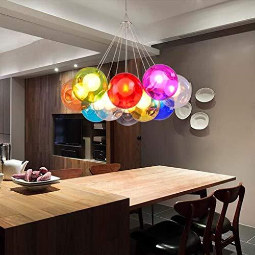 Araña de luces decorativa color bola de cristal de la lámpara de la lámpara de sala de estar creativa con niños Restaurante 's iluminación de la sala (Tamaño: 80 cm), color: 80 Cm Para uso en interior