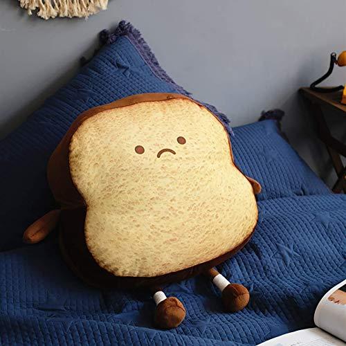 Kreative Toast Brot Plüsch Kissen, weiche Plüsch Brot Plüsch Puppe Home Lumbal Rückenkissen Niedlichen Cartoon Plüsch Gefüllte Spielzeug Für Kinder Geschenk, Sofa, Wohnzimmer, Autodekoration Chuangze