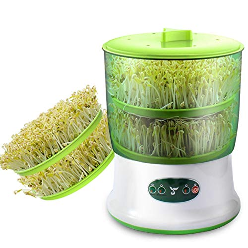 Intelligent Growing Sprouts Maker Household, Thermostat Green Seedling Maker Machine, Automatic Bean Sprout Machine Dos capas