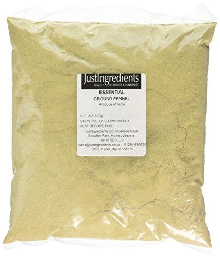 JustIngredients Essential Hinojo Molido, 500 gr