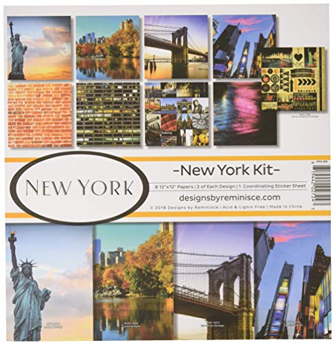 Reminisce (REMBC) New York - Set de scrapbooks, paleta de varios colores