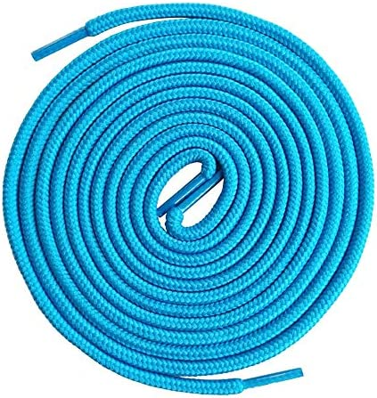 VSUDO Round Shoelaces 5 32 Thick Shoe Laces for Boots Work Shoes 2Pairs Turquoise Blue 120CM product image